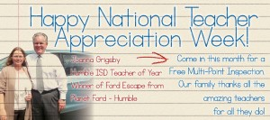 The Reed Family Celebrates National Teacher Appreciation Week.