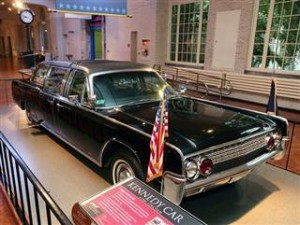 1961 Lincoln limo that carried JFK that fateful day now resides in the Henry Ford Museum.
